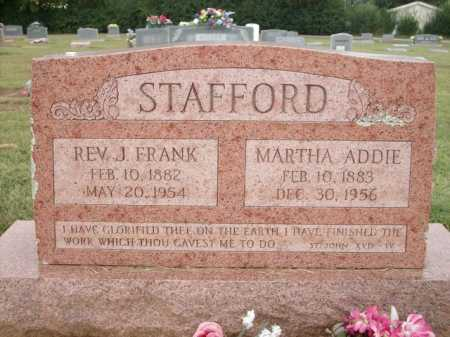 STAFFORD, MARTHA ADDIE - Logan County, Arkansas | MARTHA ADDIE STAFFORD - Arkansas Gravestone Photos
