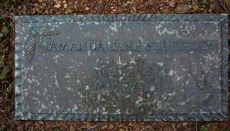 SANDERS STAPLETON, AMANDA - Logan County, Arkansas | AMANDA SANDERS STAPLETON - Arkansas Gravestone Photos