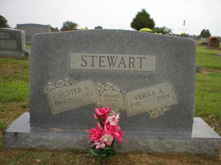 STEWART, CHESTER A. - Logan County, Arkansas | CHESTER A. STEWART - Arkansas Gravestone Photos