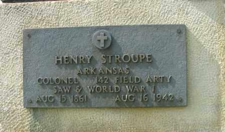 STROUPE (VETERAN 2 WARS), HENRY - Logan County, Arkansas | HENRY STROUPE (VETERAN 2 WARS) - Arkansas Gravestone Photos