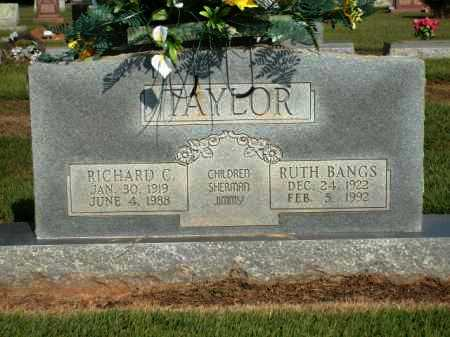 TAYLOR, RUTH BANGS - Logan County, Arkansas | RUTH BANGS TAYLOR - Arkansas Gravestone Photos