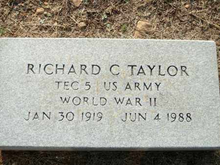 TAYLOR (VETERAN WWII), RICHARD C - Logan County, Arkansas | RICHARD C TAYLOR (VETERAN WWII) - Arkansas Gravestone Photos