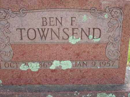 TOWNSEND, BEN F - Logan County, Arkansas | BEN F TOWNSEND - Arkansas Gravestone Photos