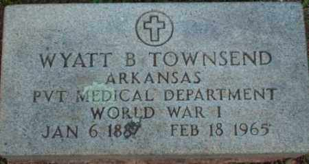 TOWNSEND (VETERAN WWI), WYATT B - Logan County, Arkansas | WYATT B TOWNSEND (VETERAN WWI) - Arkansas Gravestone Photos