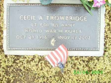 TROWBRIDGE (VETERAN 2 WARS), CECIL A. - Logan County, Arkansas | CECIL A. TROWBRIDGE (VETERAN 2 WARS) - Arkansas Gravestone Photos
