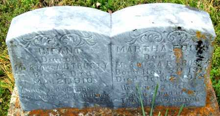TRUSTY, MARTHA A - Logan County, Arkansas | MARTHA A TRUSTY - Arkansas Gravestone Photos