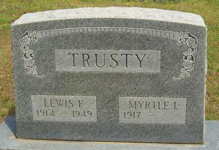 TRUSTY, LEWIS F. - Logan County, Arkansas | LEWIS F. TRUSTY - Arkansas Gravestone Photos