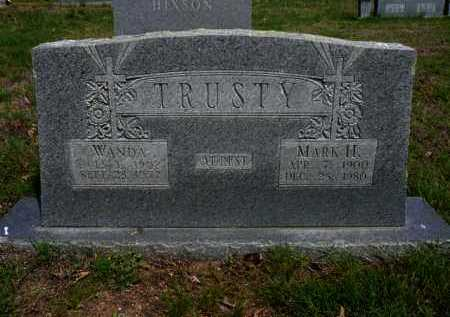 SANDERS TRUSTY, WANDA - Logan County, Arkansas | WANDA SANDERS TRUSTY - Arkansas Gravestone Photos