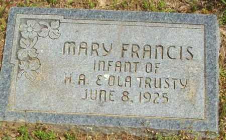 TRUSTY, MARY FRANCIS - Logan County, Arkansas | MARY FRANCIS TRUSTY - Arkansas Gravestone Photos