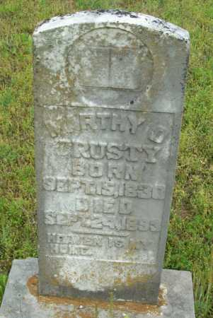 TRUSTY, MARTHY O. - Logan County, Arkansas | MARTHY O. TRUSTY - Arkansas Gravestone Photos