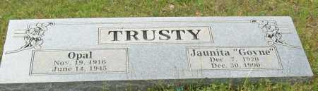 TRUSTY, OPAL - Logan County, Arkansas | OPAL TRUSTY - Arkansas Gravestone Photos