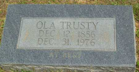 TRUSTY, OLA - Logan County, Arkansas | OLA TRUSTY - Arkansas Gravestone Photos