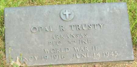 TRUSTY (VETERAN WWII), OPAL R - Logan County, Arkansas | OPAL R TRUSTY (VETERAN WWII) - Arkansas Gravestone Photos