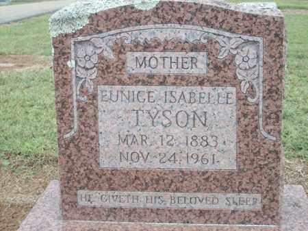 TYSON, EUNICE ISABELLE - Logan County, Arkansas | EUNICE ISABELLE TYSON - Arkansas Gravestone Photos