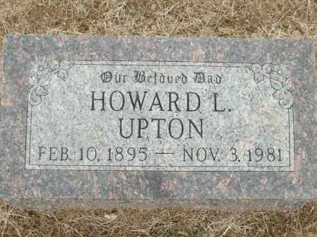 UPTON, HOWARD L. - Logan County, Arkansas | HOWARD L. UPTON - Arkansas Gravestone Photos