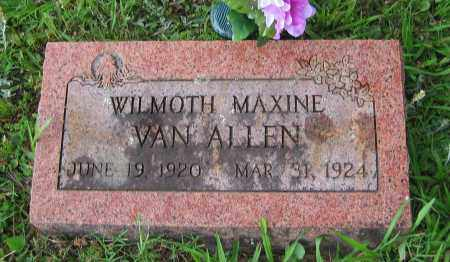 VAN ALLEN, WILMOTH - Logan County, Arkansas | WILMOTH VAN ALLEN - Arkansas Gravestone Photos