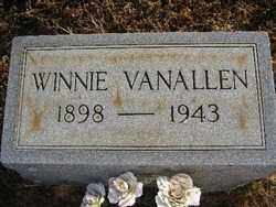 VAN ALLEN, WINNIE - Logan County, Arkansas | WINNIE VAN ALLEN - Arkansas Gravestone Photos