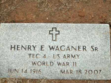 WAGANER, SR (VETERAN WWII), HENRY E - Logan County, Arkansas | HENRY E WAGANER, SR (VETERAN WWII) - Arkansas Gravestone Photos