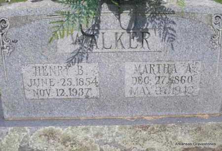 WALKER, MARTHA A - Logan County, Arkansas | MARTHA A WALKER - Arkansas Gravestone Photos