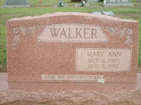 WALKER, MARY ANN - Logan County, Arkansas | MARY ANN WALKER - Arkansas Gravestone Photos