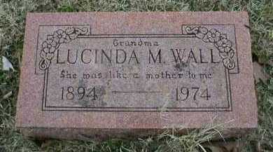 WALL, LUCINDA M - Logan County, Arkansas | LUCINDA M WALL - Arkansas Gravestone Photos