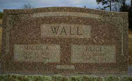 WALL, PRICE - Logan County, Arkansas | PRICE WALL - Arkansas Gravestone Photos