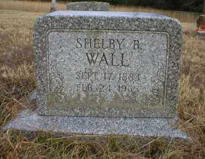 WALL, SHELBY B - Logan County, Arkansas | SHELBY B WALL - Arkansas Gravestone Photos
