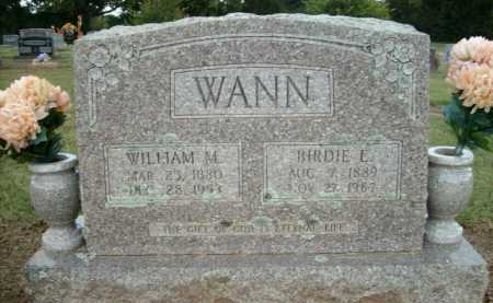 WANN, WILLIAM M. - Logan County, Arkansas | WILLIAM M. WANN - Arkansas Gravestone Photos