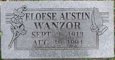 WANZOR, ELOESE AUSTIN - Logan County, Arkansas | ELOESE AUSTIN WANZOR - Arkansas Gravestone Photos