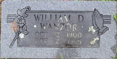 WANZOR, WILLIAM D. - Logan County, Arkansas | WILLIAM D. WANZOR - Arkansas Gravestone Photos