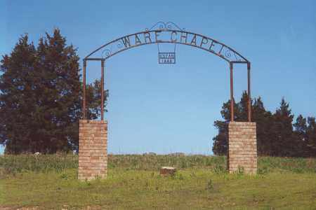 *WARE CHAPEL CEMETERY SIGN,  - Logan County, Arkansas |  *WARE CHAPEL CEMETERY SIGN - Arkansas Gravestone Photos