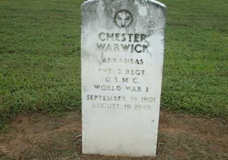WARWICK (VETERAN WWI), CHESTER - Logan County, Arkansas | CHESTER WARWICK (VETERAN WWI) - Arkansas Gravestone Photos