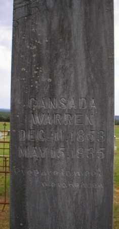 WARREN, CANSADA - Logan County, Arkansas | CANSADA WARREN - Arkansas Gravestone Photos
