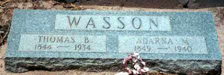 CARLOCK WASSON, ADARNA - Logan County, Arkansas | ADARNA CARLOCK WASSON - Arkansas Gravestone Photos