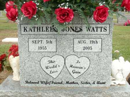 WATTS, KATHLEEN JONES - Logan County, Arkansas | KATHLEEN JONES WATTS - Arkansas Gravestone Photos
