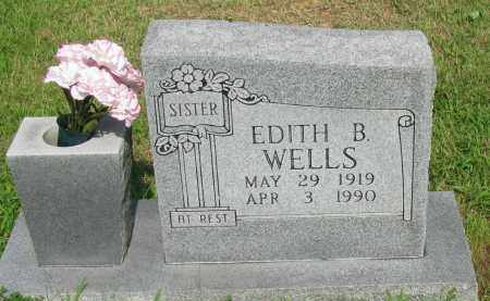 WELLS, EDITH B - Logan County, Arkansas | EDITH B WELLS - Arkansas Gravestone Photos