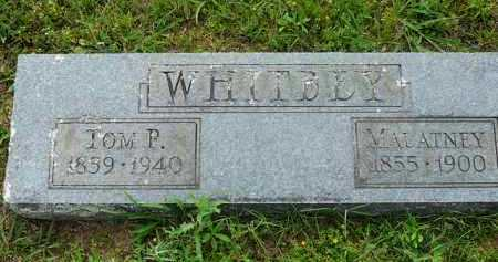 WHITBEY, TOM - Logan County, Arkansas | TOM WHITBEY - Arkansas Gravestone Photos