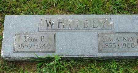 WHITBEY, MALATNEY - Logan County, Arkansas | MALATNEY WHITBEY - Arkansas Gravestone Photos