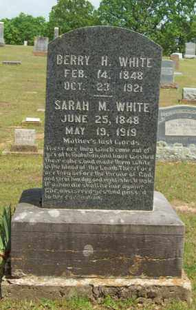 WHITE, BERRY H. - Logan County, Arkansas | BERRY H. WHITE - Arkansas Gravestone Photos