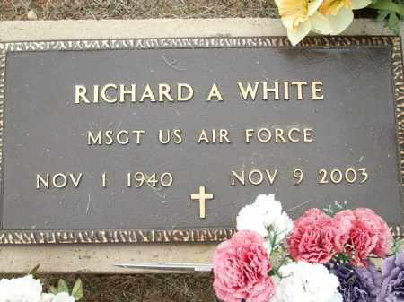 WHITE (VETERAN), RICHARD A. - Logan County, Arkansas | RICHARD A. WHITE (VETERAN) - Arkansas Gravestone Photos