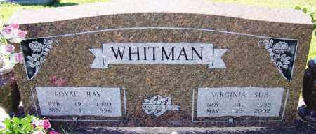 WHITMAN, VIRGINIA SUE - Logan County, Arkansas | VIRGINIA SUE WHITMAN - Arkansas Gravestone Photos