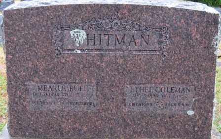 COLEMAN WHITMAN, ETHEL - Logan County, Arkansas | ETHEL COLEMAN WHITMAN - Arkansas Gravestone Photos