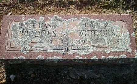 WIDDOES, JOHN W. - Logan County, Arkansas | JOHN W. WIDDOES - Arkansas Gravestone Photos