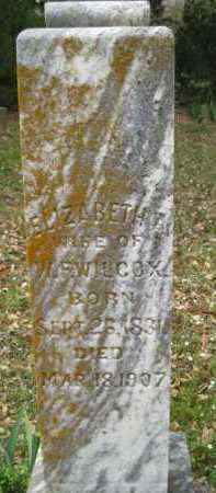 WILCOX, ELIZABETH A. - Logan County, Arkansas | ELIZABETH A. WILCOX - Arkansas Gravestone Photos
