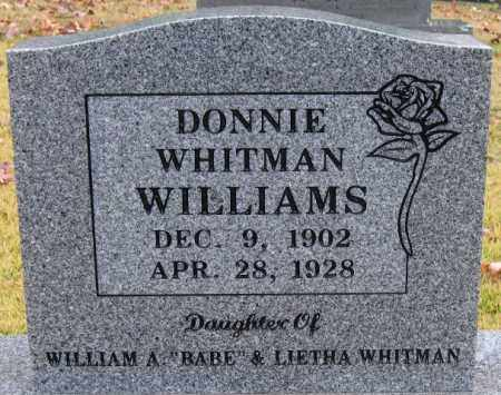 WILLIAMS, DONNIE - Logan County, Arkansas | DONNIE WILLIAMS - Arkansas Gravestone Photos