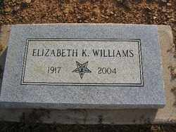WILLIAMS, ELIZABETH K. - Logan County, Arkansas | ELIZABETH K. WILLIAMS - Arkansas Gravestone Photos