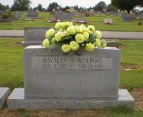 WILLIAMS, MAYREAN A - Logan County, Arkansas | MAYREAN A WILLIAMS - Arkansas Gravestone Photos