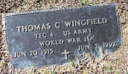 WINGFIELD (VETERAN WWII), THOMAS C - Logan County, Arkansas | THOMAS C WINGFIELD (VETERAN WWII) - Arkansas Gravestone Photos