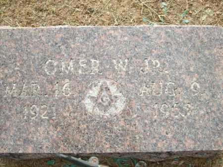 WISLEY JR., OMER W - Logan County, Arkansas | OMER W WISLEY JR. - Arkansas Gravestone Photos