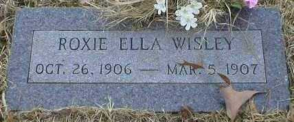 WISLEY, ROXIE ELLA - Logan County, Arkansas | ROXIE ELLA WISLEY - Arkansas Gravestone Photos